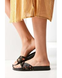 Urban Outfitters   Black Uo Floral Jacquard Pool Slide   Lyst