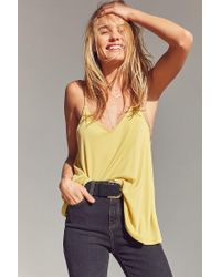 Silence + Noise | Yellow Stella Strappy Swing Cami | Lyst