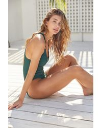 Out From Under   Green Cutout Ring One-piece Swimsuit   Lyst