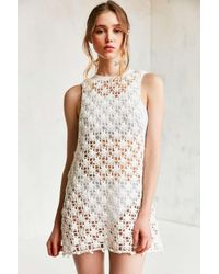 Kimchi Blue | White Floral Crochet Tunic Top | Lyst