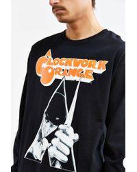 Urban Outfitters Black Clockwork Orange Long Sleeve Tee for men