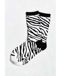Urban Outfitters | Black Zebra Crew Sock for Men | Lyst