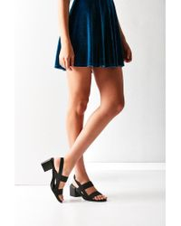 Urban Outfitters - Black Elastic Slingback Heel - Lyst
