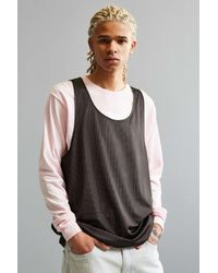 Urban Outfitters | Black Uo Mesh Tank Top for Men | Lyst