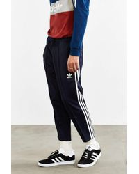 Adidas Originals | Blue Superstar Relaxed Cropped Track Pant for Men | Lyst