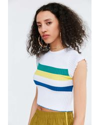BDG | Multicolor Rainbow Cropped Sweater Tee | Lyst