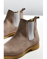 Shoe The Bear - Gray Gore Suede Chelsea Boot for Men - Lyst
