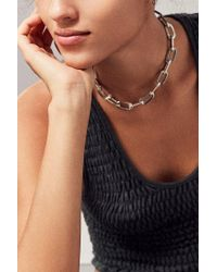 Urban Outfitters | Metallic Vanessa Chain Choker Necklace | Lyst