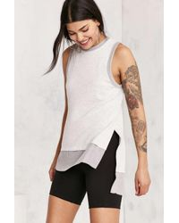 Silence + Noise | Gray Kelly High/low Tunic Tank Top | Lyst