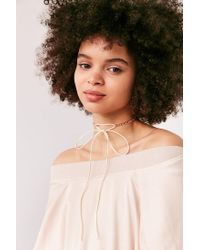 Urban Outfitters - Multicolor Lex Chain Tie Choker Necklace - Lyst