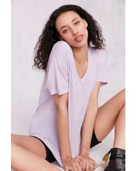Truly Madly Deeply | Purple Slouchy Pocket Tee | Lyst
