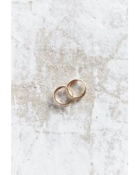 Seoul Little | Metallic X Uo 18k Gold Small Hoop Earring | Lyst