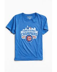 Urban Outfitters | Blue Chicago Cubs World Series Champs Tee for Men | Lyst