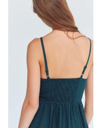 Cooperative - Blue Emilia Printed Linen Button-down Midi Dress - Lyst
