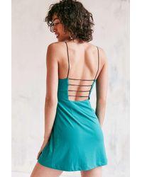 Silence + Noise   Blue Thin Strap A-line Dress   Lyst