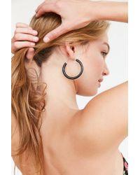Urban Outfitters - Black Linnie Hoop Earring - Lyst