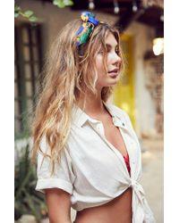 BDG   Multicolor Jena Tie-front Blouse   Lyst