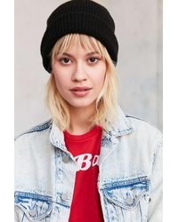Urban Outfitters | Black Classic Thermal Beanie | Lyst