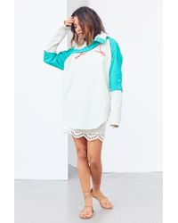 Without Walls | Blue Tristan Twofer Poncho Jacket | Lyst