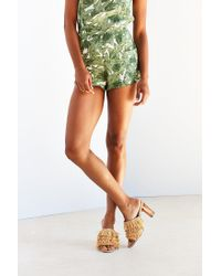 Urban Outfitters | Multicolor Raffia Lucite Heel | Lyst
