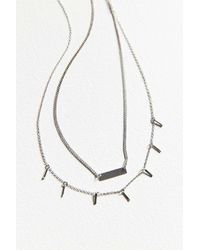 Urban Outfitters - Metallic Luxe Layering Necklace Set - Womens All - Lyst