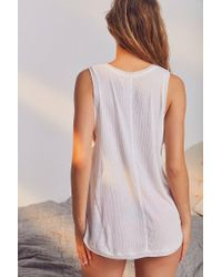 Out From Under - White Felicity Tank Top - Lyst