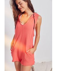 Out From Under - Orange Giani Hoodie Romper - Lyst