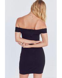 Silence + Noise   Black Off-the-shoulder Slashed Ponte Dress   Lyst
