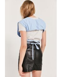 BDG - Blue Carlise Wrap Cropped Top - Lyst