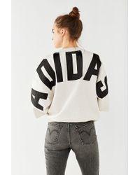 Adidas Originals - Gray Originals 3/4-sleeve Sweatshirt - Lyst