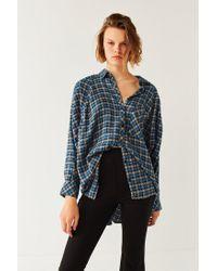 BDG | Blue Brendan Cozy Flannel Button-down Shirt | Lyst