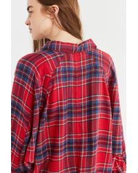 BDG - Red Brendan Cozy Flannel Button-down Shirt - Lyst
