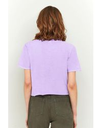 BDG - Purple Cali Palm Tree Cropped Tee - Lyst