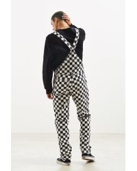 BDG - Black Skate Checkered Overall for Men - Lyst
