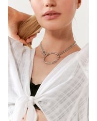 Five And Two   Metallic York Choker Necklace   Lyst