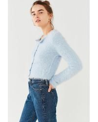 Kimchi Blue | Blue Courtney Fuzzy Cardigan | Lyst