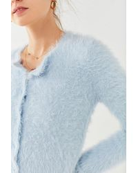 Kimchi Blue - Blue Courtney Fuzzy Cardigan - Lyst
