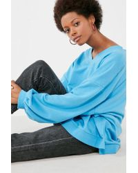 BDG - Blue Oversized V-neck Pullover Top - Lyst