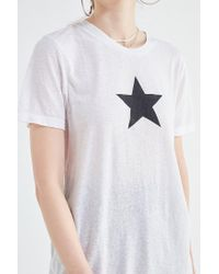 Truly Madly Deeply - White Sheer Star Tee - Lyst
