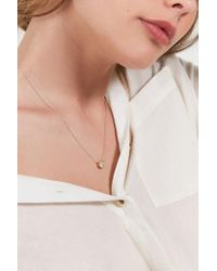 Urban Outfitters | Metallic Round Cubic Zirconia Pendant Necklace | Lyst