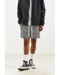BDG - Black Printed Denim Volley Short for Men - Lyst