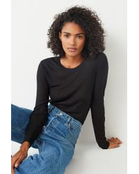Out From Under - Black Madison Ribbed Long Sleeve Top - Lyst