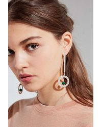 Urban Outfitters - Metallic Saturn Statement Drop Earring - Lyst