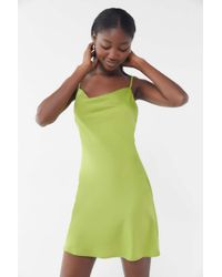 Urban Outfitters - Green Uo Mallory Cowl Neck Slip Dress - Lyst