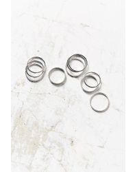 Urban Outfitters - Metallic Simple Ring Pack - Lyst