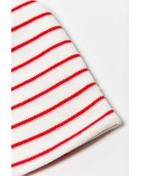 Urban Outfitters - Red Basic Striped Beanie - Lyst