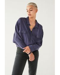 Urban Outfitters - Blue Uo Celeste Pocket Surplice Top - Lyst