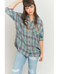BDG | Gray Slouchy Grey Flannel Shirt | Lyst