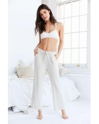 Urban Outfitters | White Cosy Oatmeal Brown Lounge Bottoms | Lyst