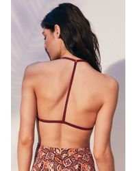 Out From Under - Multicolor Triangle Racerback Bikini Top - Lyst